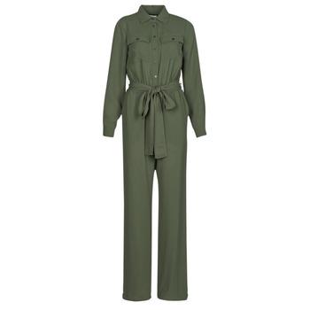 Kleidung Damen Overalls / Latzhosen MICHAEL Michael Kors ROLL SLV SAFARI JMPST Khaki