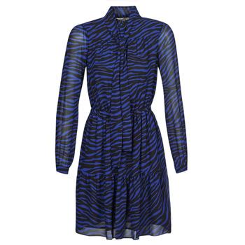 Vêtements Femme Robes courtes MICHAEL Michael Kors BOLD BENGAL TIER DRS Noir/Bleu