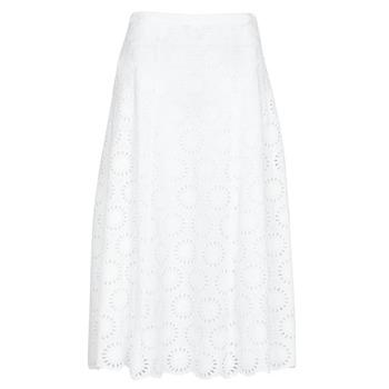Vêtements Femme Jupes MICHAEL Michael Kors FLORAL EYLT LNG SKIRT Blanc Dentelle