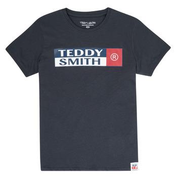 Vêtements Garçon T-shirts manches courtes Teddy Smith TOZO Marine