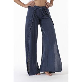 Vêtements Femme Pantalons fluides / Sarouels La Cotonniere PANTALON JULIETTE Bleu