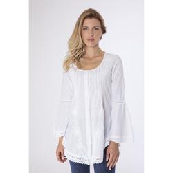 Vêtements Femme Chemises / Chemisiers La Cotonniere CHEMISE LONGUE SHEYLA Blanc