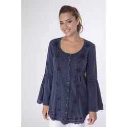Vêtements Femme Chemises / Chemisiers La Cotonniere CHEMISE LONGUE SHEYLA Bleu