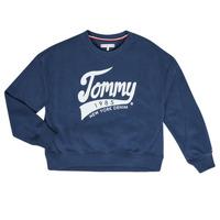 Kleidung Mädchen Sweatshirts Tommy Hilfiger KG0KG04955 Marineblau