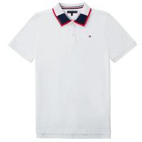 Vêtements Garçon Polos manches courtes Tommy Hilfiger KB0KB05658 Blanc