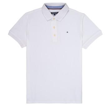 Vêtements Garçon Polos manches courtes Tommy Hilfiger KB0KB03975 Blanc