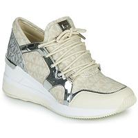 Chaussures Femme Baskets basses MICHAEL Michael Kors LIV TRAINER Mk Logo Beige/Argt