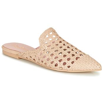 Schuhe Damen Pantoffel Pretty Ballerinas COTON ROSATO Beige