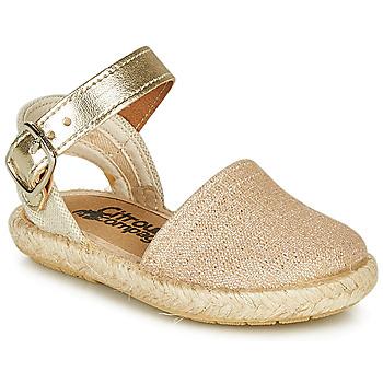 Schuhe Mädchen Sandalen / Sandaletten Citrouille et Compagnie MIOSOTIS Golden