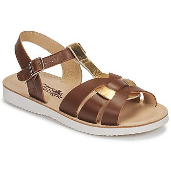 Schuhe Mädchen Sandalen / Sandaletten Citrouille et Compagnie MINOTTE Braun, / Golden