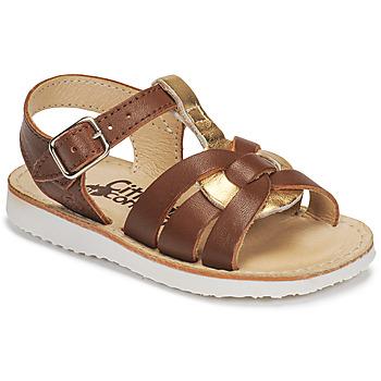 Chaussures Fille Sandales et Nu-pieds Citrouille et Compagnie MINOTTE marron/or