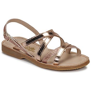 Chaussures Fille Sandales et Nu-pieds Citrouille et Compagnie GENTOU Bronze/glitter