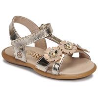 Schuhe Mädchen Sandalen / Sandaletten Citrouille et Compagnie MARELLE Silbrig