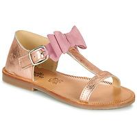 Chaussures Fille Sandales et Nu-pieds Citrouille et Compagnie MELINDA Argent