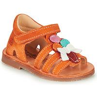 Schuhe Mädchen Sandalen / Sandaletten Citrouille et Compagnie MIETTE Orange
