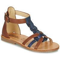 Schuhe Mädchen Sandalen / Sandaletten Citrouille et Compagnie GITANOLO Marineblau / Kamel