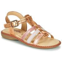 Chaussures Fille Sandales et Nu-pieds Citrouille et Compagnie GROUFLA Doré/couleurs métallisés rose