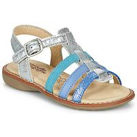 Chaussures Fille Sandales et Nu-pieds Citrouille et Compagnie GROUFLA Argent/déclinaison de bleux/vert d'eau