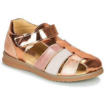 Chaussures Fille Sandales et Nu-pieds Citrouille et Compagnie FRINOUI Bronze/rose