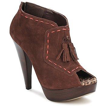 Schuhe Damen Ankle Boots Via Uno KAMILA Braun,
