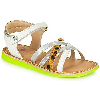 Schuhe Mädchen Sandalen / Sandaletten Gioseppo STAGGIA Weiß / Gelb
