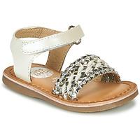 Schuhe Mädchen Sandalen / Sandaletten Gioseppo VARESE Weiß / Silbrig