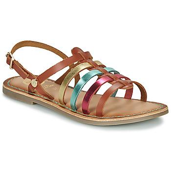 Schuhe Mädchen Sandalen / Sandaletten Gioseppo ETALLE Kognac