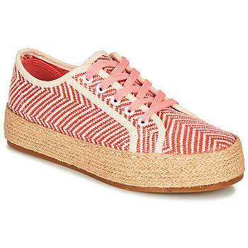 Schuhe Damen Leinen-Pantoletten mit gefloch André PEN