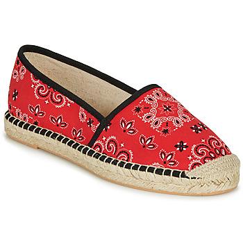 Schuhe Damen Leinen-Pantoletten mit gefloch André HADRIANA