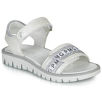 Chaussures Fille Sandales et Nu-pieds Primigi 5386700 Blanc / Argenté