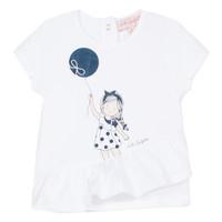 Vêtements Fille T-shirts manches courtes Lili Gaufrette NALIOS Blanc