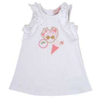 Vêtements Fille Robes courtes Lili Gaufrette NAVETTE Blanc