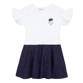 Vêtements Fille Robes courtes Lili Gaufrette PERRINE Blanc