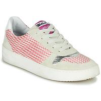 Chaussures Femme Baskets basses Meline GUILI Beige/rouge