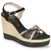 Chaussures Femme Sandales et Nu-pieds Unisa MIRELLA Noir