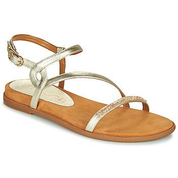 Schuhe Damen Sandalen / Sandaletten Unisa CLARIS Golden