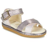 Chaussures Fille Sandales et Nu-pieds Clarks SKYLARK PURE T Argent