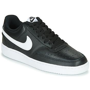 Chaussures Femme Baskets basses Nike COURT VISION LOW Noir / Blanc