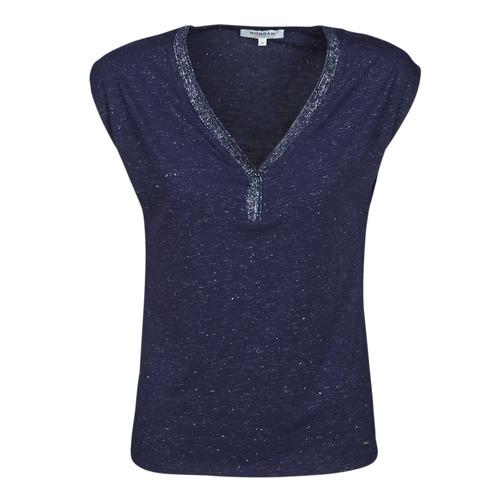 Vêtements Femme T-shirts manches courtes Morgan DMAYA MARINE