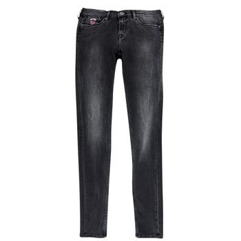 Vêtements Fille Jeans slim Pepe jeans PAULETTE Noir