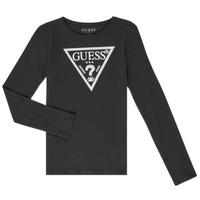 Vêtements Fille T-shirts manches longues Guess GARICE Noir