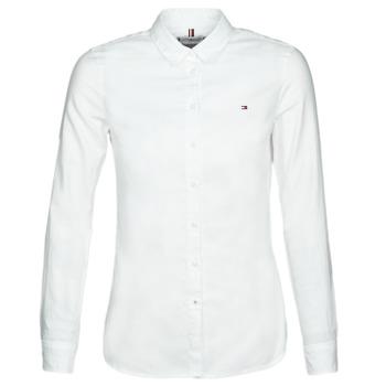 Kleidung Damen Hemden Tommy Hilfiger HERITAGE REGULAR FIT SHIRT Weiß