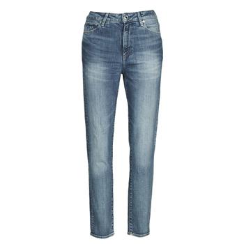 Kleidung Damen Straight Leg Jeans G-Star Raw 3301 HIGH STRAIGHT 90'S ANKLE WMN Blau