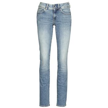 Vêtements Femme Jeans droit G-Star Raw MIDGE MID STRAIGHT WMN lt vintage aged destroy