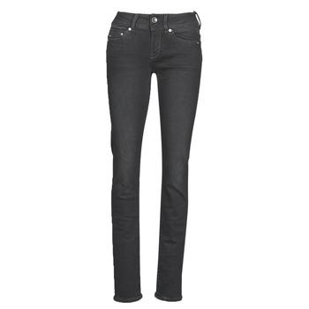 Vêtements Femme Jeans droit G-Star Raw MIDGE MID STRAIGHT WMN dusty grey