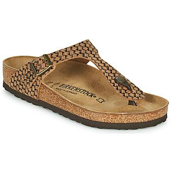 Schuhe Damen Zehensandalen Birkenstock GIZEH LEATHER