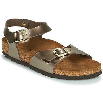 Chaussures Femme Sandales et Nu-pieds Birkenstock RIO Electric Metallic Taupe