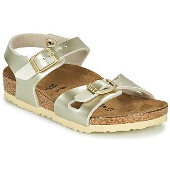 Chaussures Fille Sandales et Nu-pieds Birkenstock RIO Electric Metallic Gold