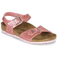 Chaussures Fille Sandales et Nu-pieds Birkenstock RIO PLAIN Cosmic Sparkle Old Rose