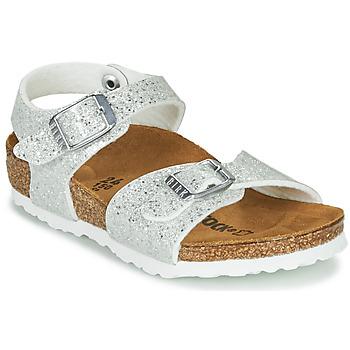 Schuhe Mädchen Sandalen / Sandaletten Birkenstock RIO PLAIN Weiß